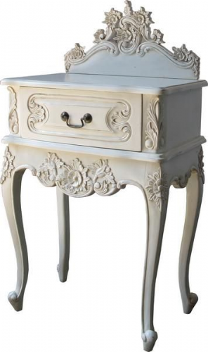 Louis One Drawer French Bedside Table